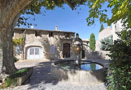 provencal: Fountain in Place de Vieux-Marche in the ( Haute-Ville)  medieval city at Vaison La Romain, in the Vancluse, Provence, France.