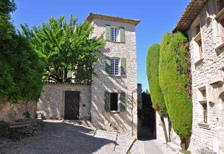provencal: Rue de leglise in the old medieval village of Vaison-la-Romaine, in Provence, France. (taken in the Haute Ville)