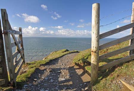 baggy: Southwest Coast footpath at Baggy Point headland, Croyde, North Devon, England
