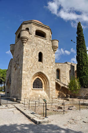 Church of our Lady at Ialyssos monastery on the Greek island of Rhodes is built at the top of Mount Filerimos photo