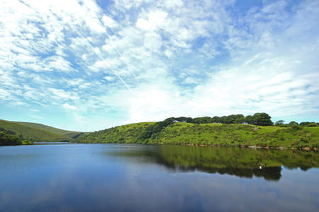 Meldon Reservoir on Dartmoor, England, Taken from Longstone Hill looking towards South Down.