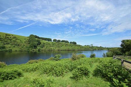 Meldon Reservoir on Dartmoor, England, Taken from Longstone Hill footpath Looking towards South Down.
