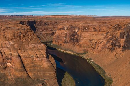 Horseshoe Bend meander of Colorado River in Glen Canyon, Arizona, US
