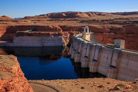 spillway: Glen Canyon Dam on Colorado River, Page, Arizona, US