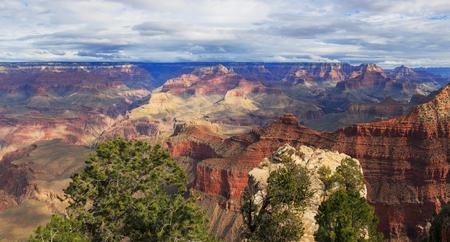 Beautiful Landscape from South Rim of Grand Canyon, Arizona, United States