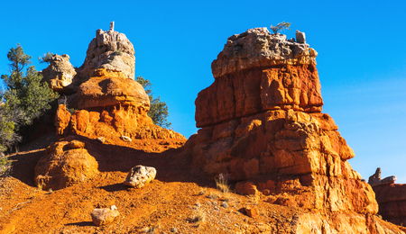 Charming rock formation. Hoodoos in Bryce Canyon National Park. Utah, United States Stock Photo