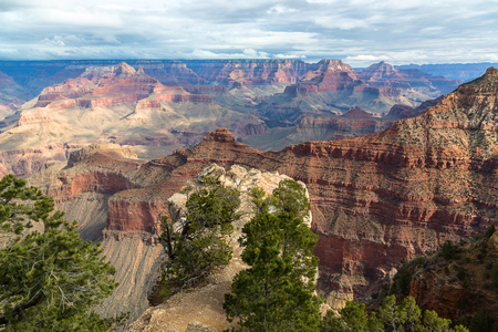Appealing scenic view of breathtaking landscape in Grand Canyon National Park, Arizona, United States