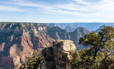 geological formation: Beautiful Landscape of Grand Canyon from the north rim. Arizona US Stock Photo