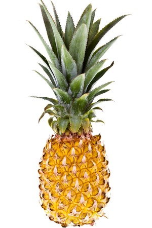 completely: Perfect Pineapple, completely isolated on white background