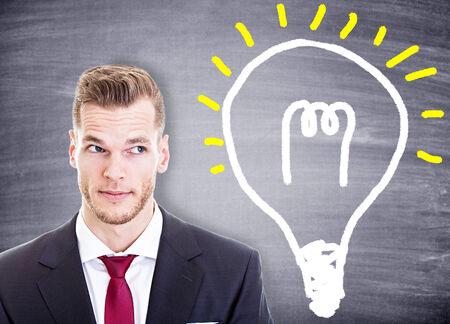 young businessman has an idea photo