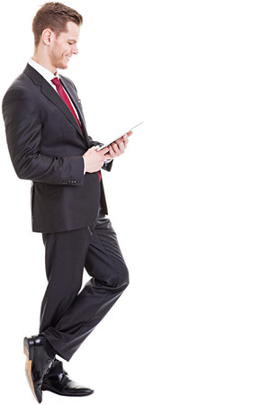 Businessman with digital tablet photo