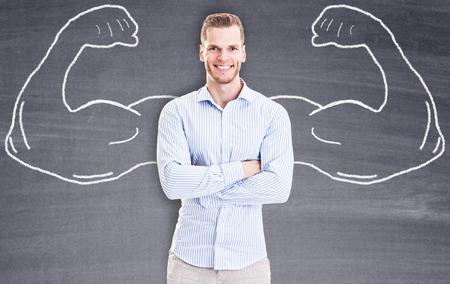 arrogancia: Hombre de negocios fuerte
