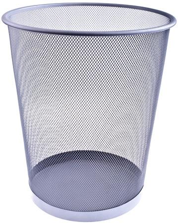 Wastebasket, isolated on white photo