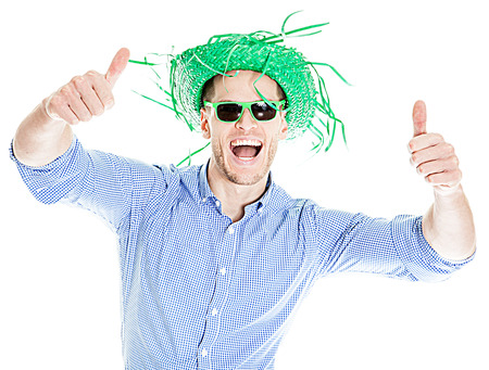 Crazy Young Party Man - Photo Booth Photo Imagens - 63536235