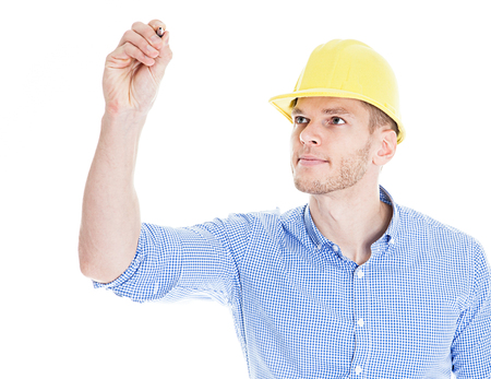 Construction engineer drawing, isolated on a white background