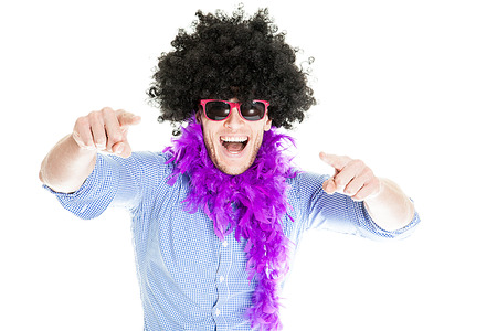 disguised: Crazy Young Party Man - Photo Booth Photo