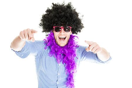 Verrückte junge Partei Man - Photo Booth Foto