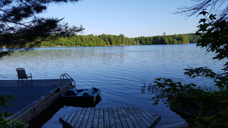 Picture Taken of Lake/Cottage Dock in North America