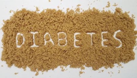 Diabetes Spelled Out in Brown Sugar 写真素材