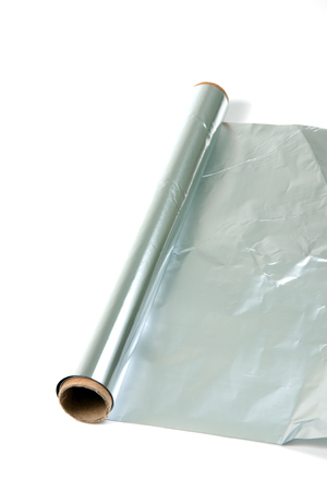 foil roll: Roll of kitchen or aluminum foil studio isolated