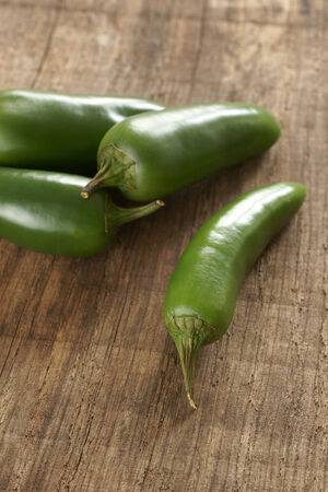Jalapeno green chillies popular ingredients in Mexican and Latin food photo