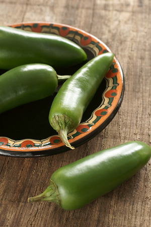 Jalapeno green chillies popular ingredients in Mexican and Latin food