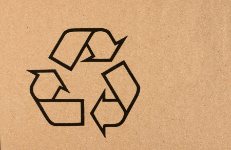 Recycling symbol for cardboard photo
