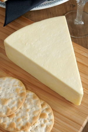 wensleydale: Wensleydale a traditional creamy and crumbly British cheese made in Wensleydale North Yorkshire