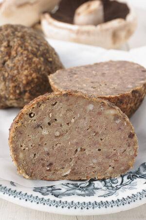 savoury: Faggots или Пикантные Утки традиционное блюдо в Великобритании сделаны из свинины и субпродуктов