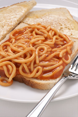 quick snack: Tinned spaghetti on toast a simple and quick meal for those on a budget
