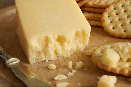 white cheese: Lancashire a traditional English cheese