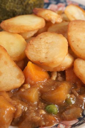 rutabaga: Lancashire Hotpot lamb stew topped potatoes