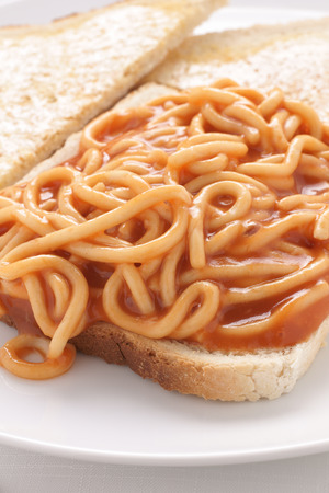 simple meal: Spaghetti on toast a simple and quick meal