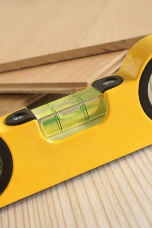 spirit level: Carpenters spirit level a woodworking or carpentry concept