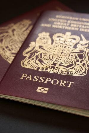 British passports  a travel and identification concept