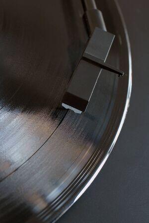 stylus: Vinyl Record and record player stylus