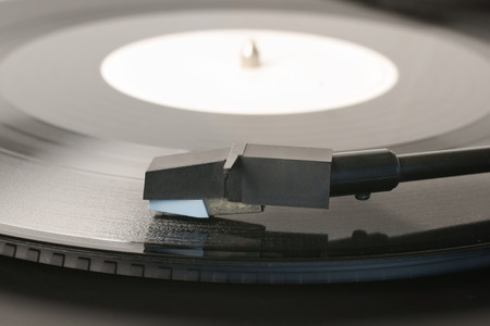 stylus: Vinyl Record or LP and record player stylus