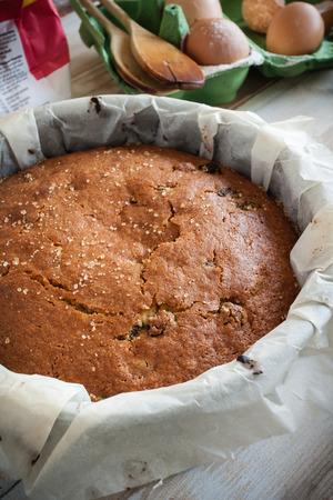 sultana: Traditionally home baked farmhouse sultana or dried fruit light sponge cake