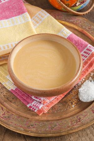 bod: Tibetan yak butter tea or po cha a blend of black tea yak butter and salt