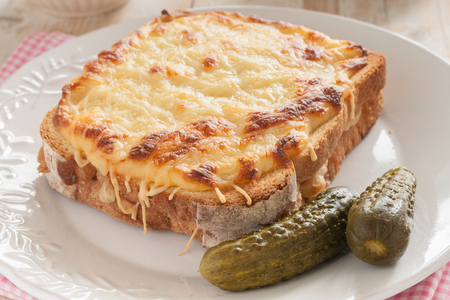 Croque Monsieur a traditional French toasted cheese and ham sandwich