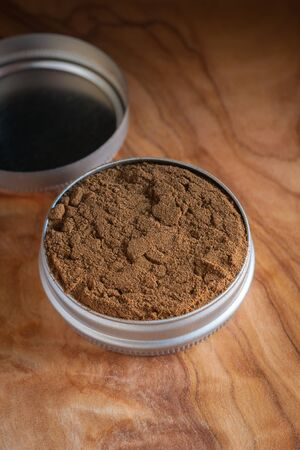 snuff: Dry snuff a smokeless tobacco made from ground tobacco leaves popular in the 18th century