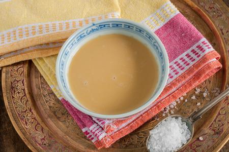 Tibetan yak butter tea black tea with yak butter and salt