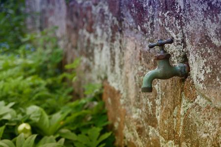 Bon Old Garden Faucet Or Tap Gardening Concept Stock Photo   56196394