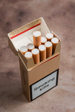 enact: Pack of ten cigarettes now banned under the European Union Tobacco Products Directive as of May 20th 2016 along with wide ranging controls on tobacco products