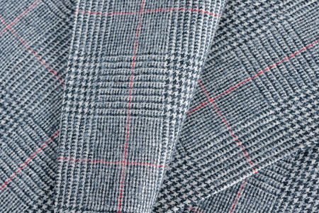 Glen plaid or Glenurquhart check a a traditional fabric pattern Imagens