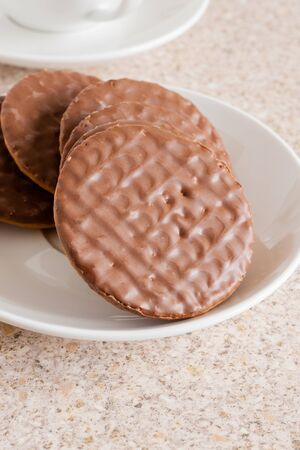 biscuits: Milk chocolate covered digestive biscuits