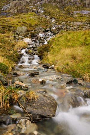 A small mountain stream in Cwm Idwal in Snowdonia National Park