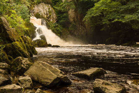 Conwy Falls on the River Conwy near Betws y Coed North Wales Stock Photo