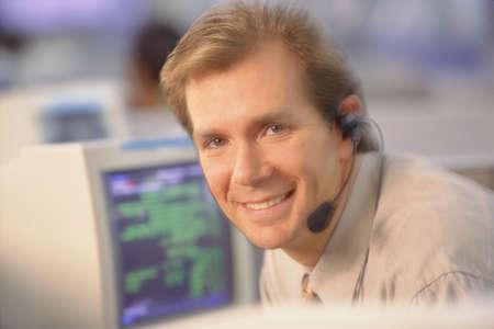 young man at computer