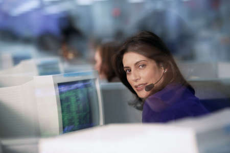businesswoman with computer photo